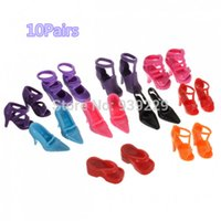 Wholesale Pair Beautiful Different Shoes Heels Sandals For Barbie Doll Fashion Dress Toy