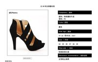 Wholesale 2016 In the summer The new fashion Roman shoes suede Hollow out Fish mouth shoes spike sandals