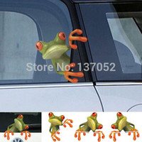 Wholesale 2pcs D Cute Peep frog funny car stickers Truck Window Vinyl Decal Graphics Sticker