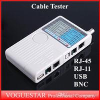 Wholesale Remote RJ11 RJ45 USB BNC LAN Network Cable Tester for UTP STP LAN Cables Top Quality Wholesael Retail NWP002