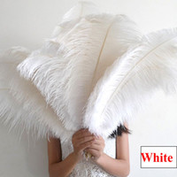 Wholesale White Ostrich Feathers Large Size quot Ostrich Plumage Dyed Plume Many Size Selection Wedding Party Centerpieces Table Centerpiece