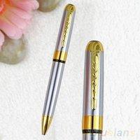 Precio de Bolígrafo de giro-Jinhao 250 Premium Silver Barrel Clip de Oro Trim Twist Bolígrafo 1OZW