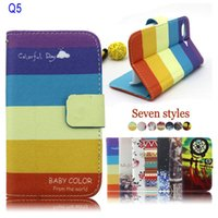 blackberry q5 - Fashion Rianbow PU Leather Wallet Flip Cover Case for BlackBerry BB Q5 DHL