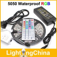 Wholesale Hotsale LED Strip Light M Set SMD3528 or M RGB LED Strip Waterproof With Keys Remote Controller DC12V Power Supply