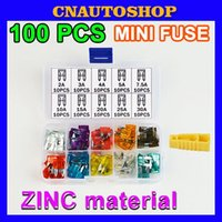 Wholesale 100PCS MINI Car Fuses A A A A A A A A A A Amp with Box Clip Assortment Auto Blade Type Fuse Set Vehicle Truck order lt no t