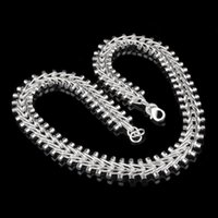 mens silver chains - SALE Silver Necklace Mens Thick Watch Chain XMAS gifts MM inch fashion jewelry