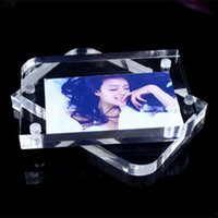 photo frame - THZ Plexiglass Transparent Acrylic Photo Frame Inch Plastic Creative Crystal Photo Frame Can Customize Size