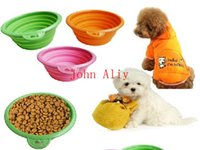 Wholesale New Hot Pet Products silicone Bowl pet folding portable dog bowls for food the dog drinking water bowl pet bowls