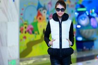 coats and jackets - Cute Patchwork Down Coat Europe and America Fashion Jacket Slim Short Style Down Coat
