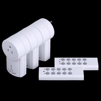 electrical outlets - US Plug Electrical Plugs Pack Wireless Remote Control Power Outlet Socket Switch Set for Lamps Household Appliance V H14904US