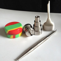 adjust tool - 2015 newest mm Gr2 adjust domeless titanium nail with carb cap dabber wax jar free shpping