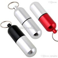 antique pill boxes - Aluminum Pill Box Case Bottle Holder Container Keychain