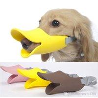 Wholesale Quack Dog Muzzles Duck Bill Pet Muzzles Novelty Cute Duckbilled Dog Muzzle Bark Bite Stopper Anti bite Maske for Dog Orc