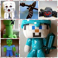 Wholesale quot Hot selling quot Minecraft Plush Toy quot Enderdragon CM Creeper Large Ghast Large Spider Zombie Diamond Steve In Stock