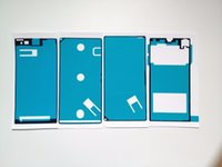 Wholesale For SONY Xperia Z1 L39h Waterproof front faceplate bracket frame back cover Adhesive Tape Sticker