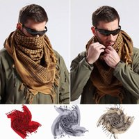 Wholesale 3PCS Arabic Windproof Thicken Square Scarf Women Men Cotton Shemagh Desert Tactical Hijabs Scarves Colors Choose ENN