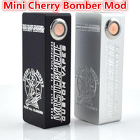 Wholesale 2016 Clearance Sale Mini Cherry Bomber Box Mod Single battery Mechanical mod VS Mini ABS Hellhound box mod for e cigs