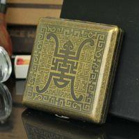 antique cigarette cases - Copper Cigarette Case Double Installed Antique Amitayus Outdoor Anti Breaking Super Personality Cigarette Case