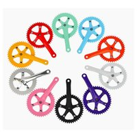 Cheap H314 Free shipping Bicycle accessories tooth disc tooth plate single speed of 44 t color sprocket crank half aluminum alloy