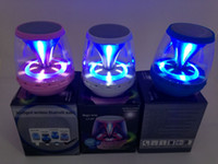 Wholesale Portable Mini Bluetooth Speaker Dancing light Handfree Mic Stereo Wireless Speakers Subwoofers Support Call FM AUS TF Card For Smart Phone