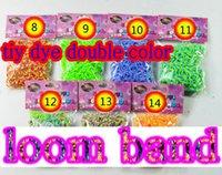 tie dye kit - tie dye double color sections color Loom Bands DHL bags DIY bracelet kit Rubber loom Band Refills