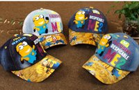 baseball baby gift - NEW kids hat Minions denim Baseball Cap hiphop cap baby boys girls unisex minion cap for kids snapback hats caps Christmas Gift