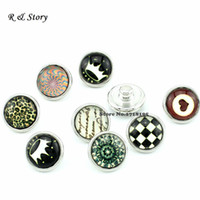 Wholesale New mix styles ginger small snap buttons SB_288