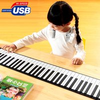 Wholesale Portable USB MIDI Roll up Standard Keys Flexible Soft Keyboard Piano Size x x cm