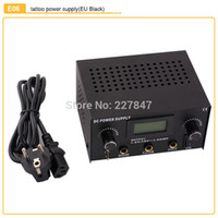 Wholesale New Design E06 Tattoo Power Digital Dual LCD Tattoo Power Supply For Liner Shader