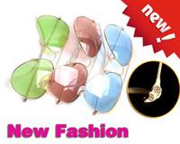 Glass vintage fashion sunglasses - High Quality Vintage Sunglasses Pink Fashion Unisex Sunglasses Women Brand Designer Frog Glasses Glass Lens Men Sunglass Metal glitter2009