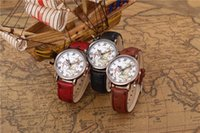 antique maps - Map Watch Vine Style Leather Watch Women Watches Boyfriend Watch World Map Map watch Sailing diary