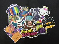 Wholesale 100pcs All Different Car Accessories Cartoon Car Motorcyle Trolley Graffiti Stickers Decals sticker bomb for car body