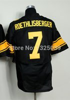 ben factory - Factory Outlet ben roethlisberger Jersey Men s Elite Football Jersey Best Quality Authentic Jersey Embroidery Logo Size M XL Can Mix O