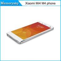 achat en gros de xiaomi quad core-xiaomi Mi4 M4 LTE 4G Mobile Phone 3G RAM 16G ROM Snapdragon S801 Quad Core 2,5 GHz 5.0Inch IPS 1920 téléphone * 1080P OTG GPS DHL gratuit 010234