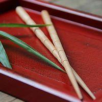 bamboo kitchen utensils - pairs set New Bamboo Joint Chinese Chopsticks Kitchen Utensils Green Wood Kitchen Utensils Chinese Gift Set Whole Sale