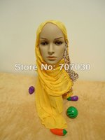 arabian style scarf - H3112411 free sipping latest style hot sale high quality elegant flower crumple arabian scarf
