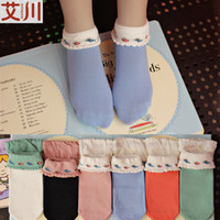 Wholesale Combed cotton socks on hand eye lady new winter women s socks over the mouth lace socks