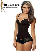 corset plus size - 2016 Latex Waist Training Corsets Zipper Steel Boned Waist Trainer Plus Size Body Shaper Latex Waist Cincher Black Sport Shaper