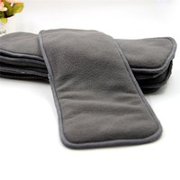 Wholesale 5 layers Bamboo Charcoal inserts Baby Changing Pads healthy Bamboo charcoal fiber diapers eco friendly