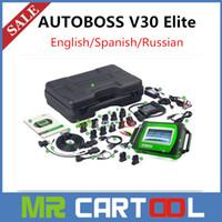Automotive Diagnostic Systems autoboss diagnostic - 2016 Hot Sale Genuine SPX Autoboss Elite Super Scanner Support Multi brand Vehicles Autoboss V30 Elite with printer DHL