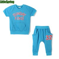 letters and numbers - Children s Summer Sets new arrival print letters and numbers colors cotton blend cool for years old kids clothing set LZ T0425
