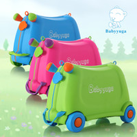 riding toys - Children Baby Trolley luggage suitcase baby can sit Ride On Toy Box dragging suitcases for children