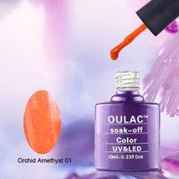 amethyst nail polish - summer Orchid Amethyst and colorful pofessional uv nail gel polish