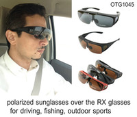 Driving anti fishes - New Flip Up Polarized Sunglasses that Fit Over Optical Eyeglasses Frames OTG Sun Glasses Anti Glare Fit For Fishing Driving