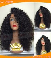 heat resistant wig - Top quality A synthetic lace front wig glueless heat resistant kinky curly synthetic wigs with baby hair natural hairline for black women