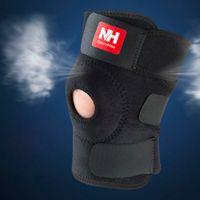 Wholesale NatureHike Sports Training Elastic Knee Support Brace Kneepad Adjustable Patella Knee Pads Hole Kneepad Safety Guard Strap DHL