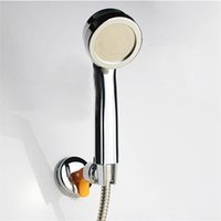 attachable shower heads - 2015 Adjustable Head Shower Attachable Rotatable Chromed Shower Head Holder with Suction Bracket Bathroom Hand Shower order lt no track
