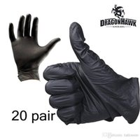 best rubber gloves - 20 pair of Tattoo Supplies disposable Rubber Gloves Black Color durable and convenient to use best price WS067