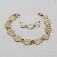 Wholesale High Quality Muslim Allah queen lion Bracelet K Real Gold Plated Anti Fade Bangles For Women Or Men Jewelry Jewelry
