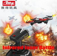 attop helicopter - Attop Infrared laser Battle G Hz rc helicopter YD822 block toy CH Quadcopter Single fort battle Double chase Wars light up